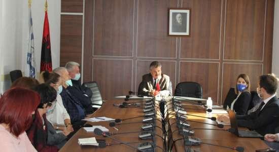 """Vizita në kuadër të akreditimit të programeve të studimit në Universitetin """"Fan S. Noli"""" Korçë"""